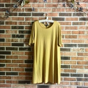 SHARANGO Jersey Knit Mustard Yellow Dress 16